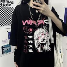 Female Tshirt Tees Short-Sleeve Black Tops Women Clothing Print Gothic New-Harajuku Fashion