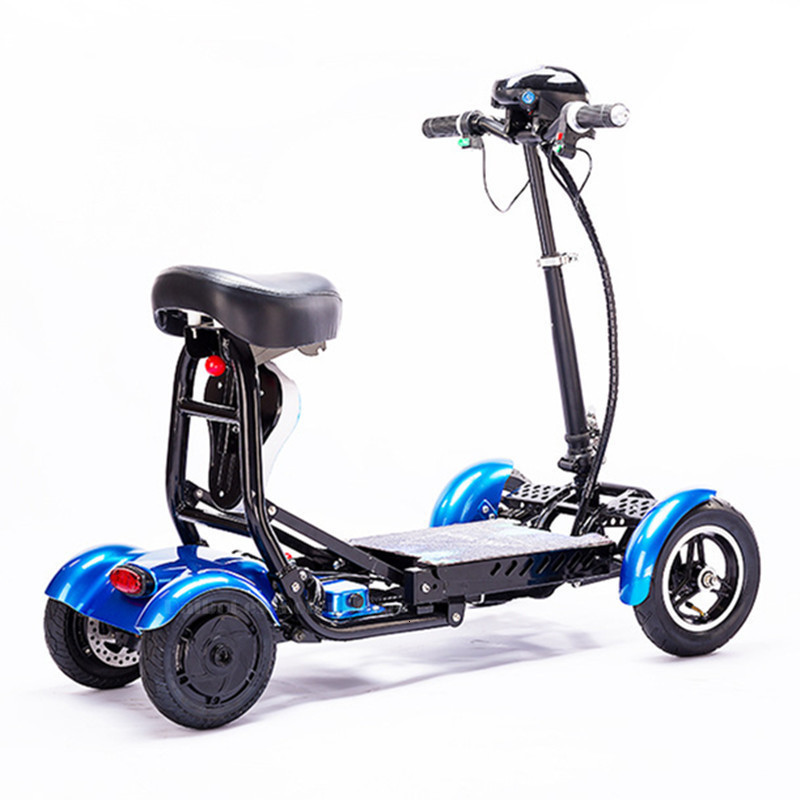 Daibot Electric Elderly Scooter 4 Wheels Electric Scooters 10 Inch 500W Foldable Electric Scooter For Disabled BlueBlackRed (54)