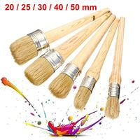 Professional Chalk Paint Wax Brushes Painting Natural Bristles Cleaning Brush Acrylic Watercolor Oil Painting 20/25/30/40/50mm