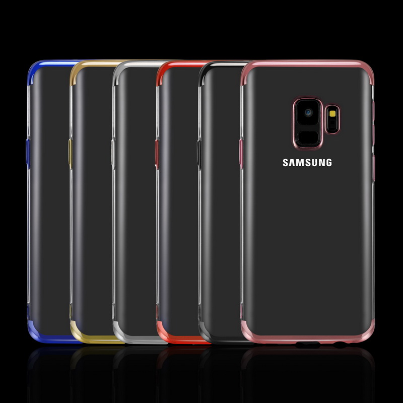 Plating Soft TPU Cases For Samsung Galaxy S8 S9 Plus S6 S7 Edge A7 2018 A5 2016 A3 A8 Ultra thin Cover For S10E A10 Plus Case