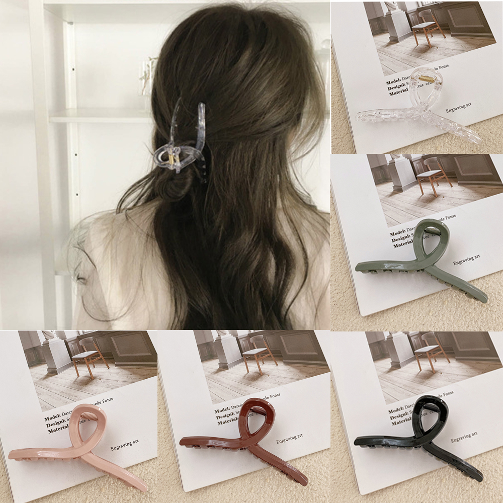 Ruoshui Woman Elegant Transparent Hair Crab Women Hair Accessories Girls Hairpins Hair Claw Clips Ladies Ornaments Barrettes