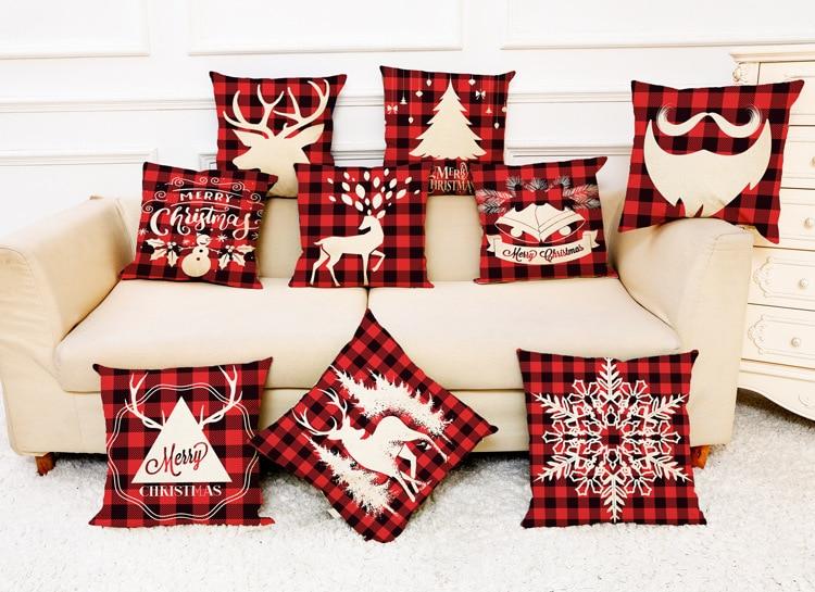 Pillow Case Christmas Pillowcase Modern Pillow Cover Home Decor Throw Pillow Decoration Hopeg Christmas Pillow Cover Pillowcases Decorative Sofa Cushion Cover 45x45cm Square Pillow Sheet