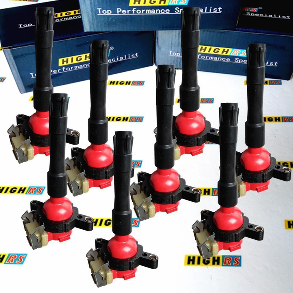 6 piece Spark Plug Connector for BMW E46 E39 E38 E31 E53 Z3 Z8 540i M5 525i 323i