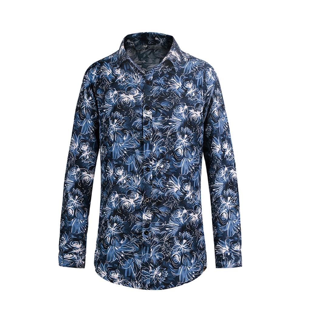 Mens Autumn Fashion Shirts Casual Long Sleeve Beach Tops Loose Casual Blouse Fashion Girl Boy Woman The Man Autumn Vogue