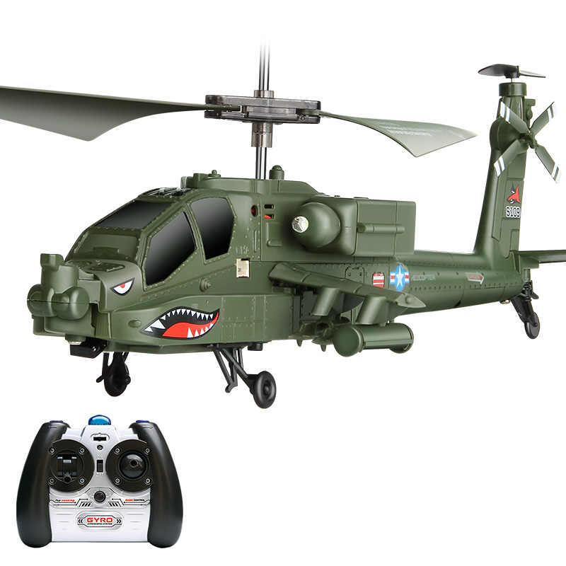 S109G 3.5CH Beast RC Helicopter RTF AH-64 Military Model Kids Toy