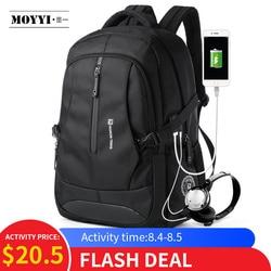 MOYYI мужской рюкзак для путешествий большой емкости подростковый мужской рюкзак Mochila Задняя Анти-Вор сумка 17,3