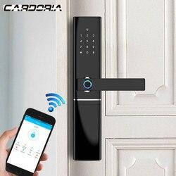 Умный электронный замок, отпечаток пальца, дверной замок, безопасность, интеллектуальный замок, биометрический Wifi дверной замок с Bluetooth, при...