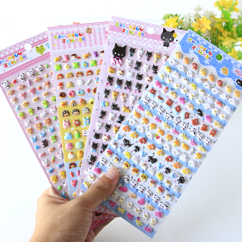 Kawaii Lovely Small Animal Foam 3D Decorative Stationery Stickers Scrapbooking DIY Diary Album Stick Label