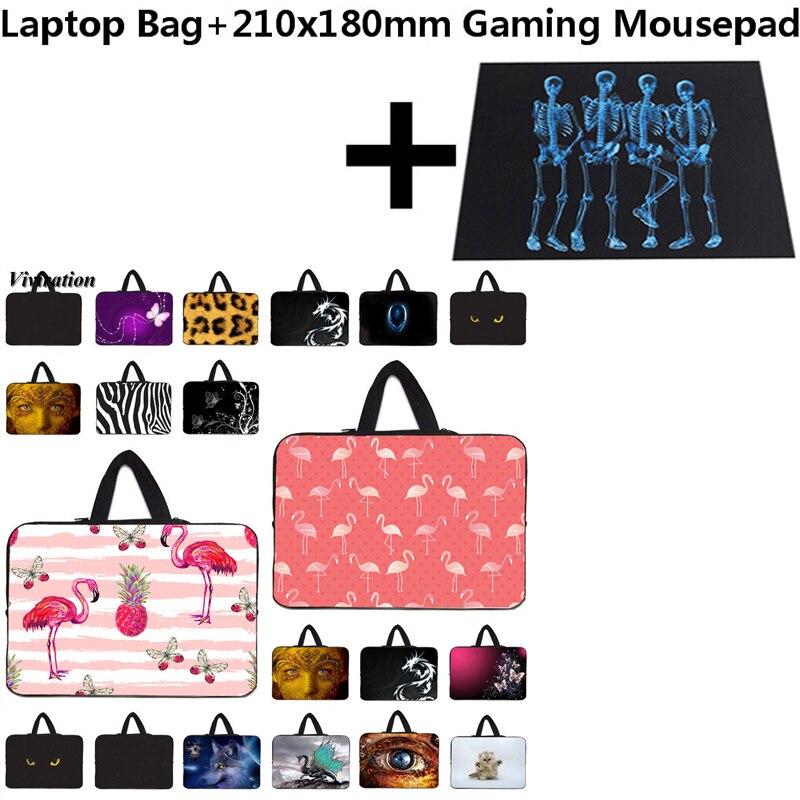 9.7 13.3 15 12 14 10 17 13 Laptop Neoprene Sleeve Computer Bag Funda Portatil 15.6 11.6 Ultrabook Notebook Case+21x18cm Mousepad