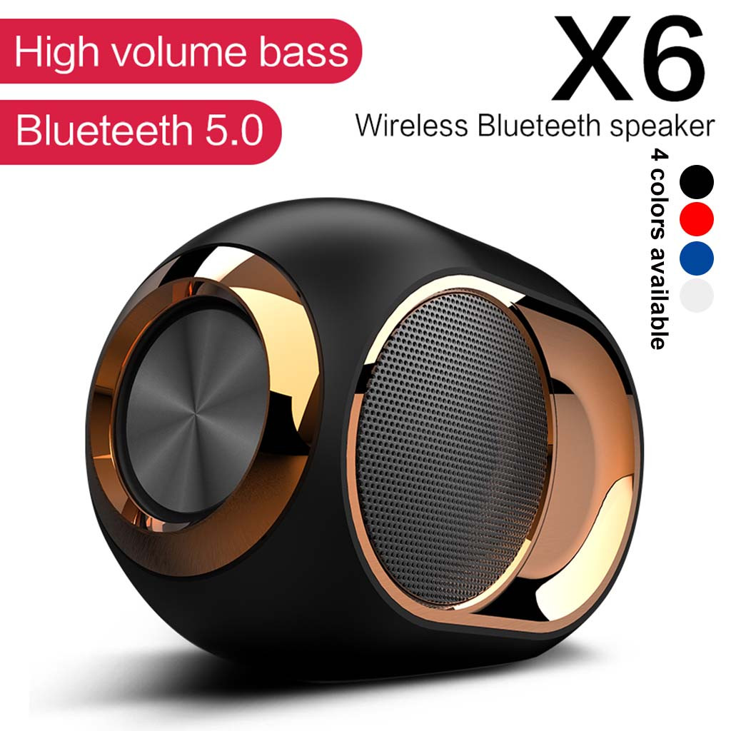 TWS Waterproof Portable Bluetooth Stereo Speaker Wireless Shower Soundbar Audio