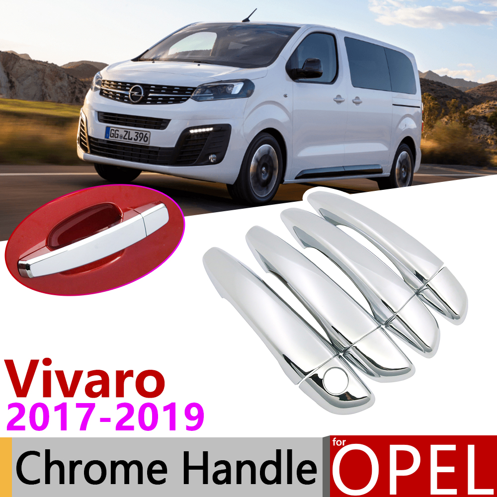 2001-2014 ABS Chrome Wing Mirror Cover Set Fits Vivaro Both Sides
