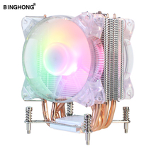 CPU Cooler For Pro Automatically Change Color Quiet And High Quality 4 Pin Pwm LED RGB Heatsink Fans 90mm Intel X79 X99 LGA2011