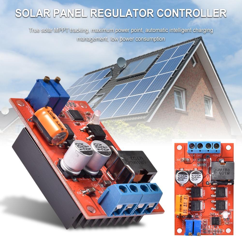 MPPT Solar Panel Controller 5A DC-DC Step-down CC//CV Buck Charging AIP