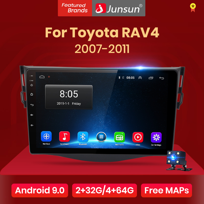 Junsun Multimedia Video-Player Navigation DSP Car-Radio Android Toyota Rav4 2007 1  title=