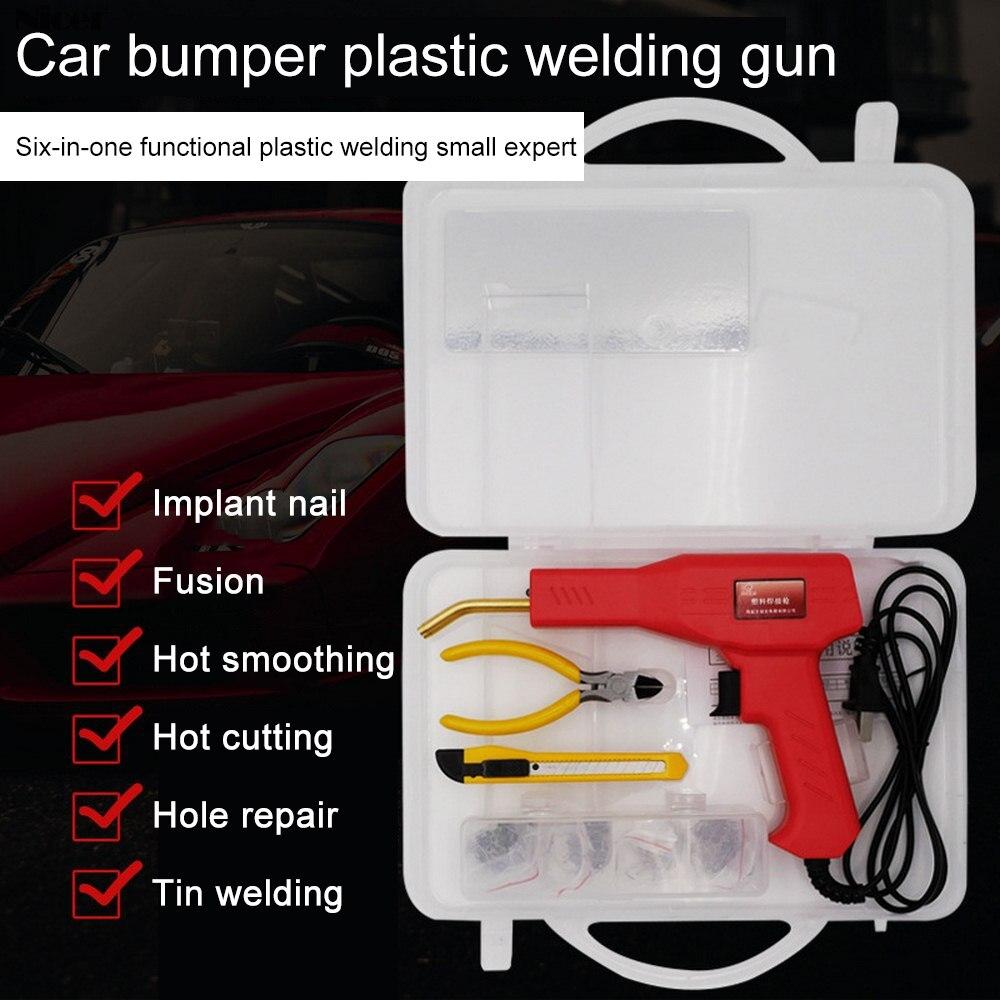 Plastic Welder Hot Stapler Welding Machine Gun Garage Tool Kit Car Bumper Repair
