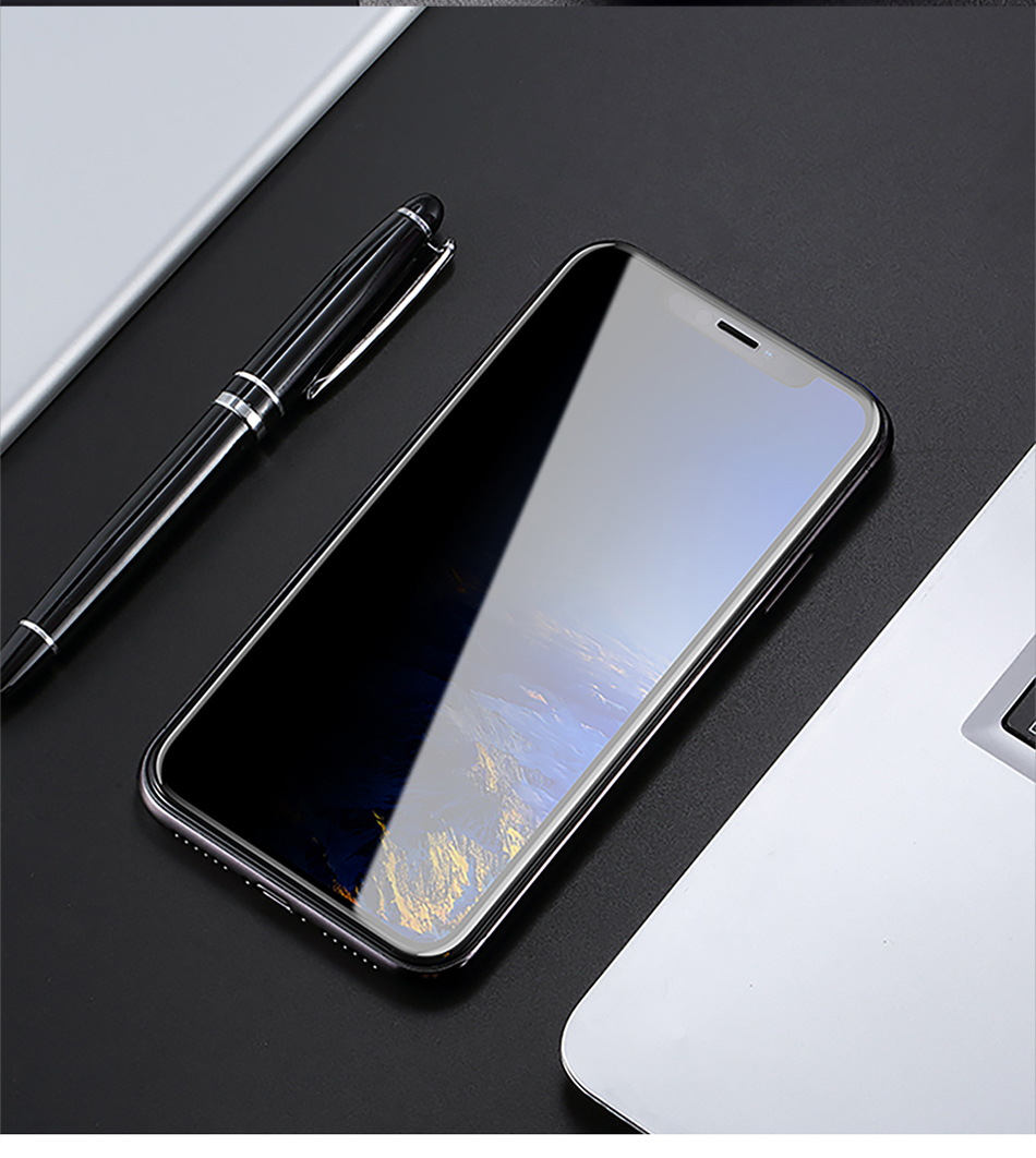 Benks Anti Spy Tempered Glass For iPhone XS 5.8'' XS MAX 6.5'' Full Protection Cover For XR 6.1 Screen Protector Anti Glare Front Film (13)