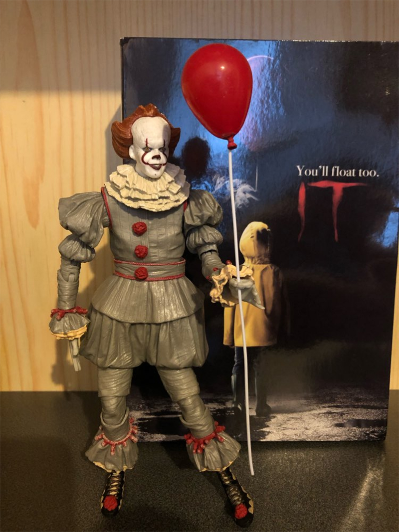 Horror Movie It Character NECA Joker With Balloons Pennywise Action Figure Model Toy for Christmas Halloween Gifts (18)