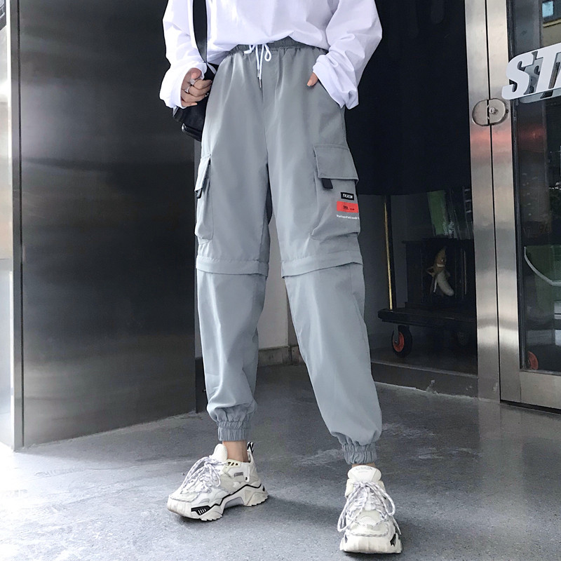 Hot Big Pockets Cargo pants women High Waist Loose Streetwear pants Baggy Tactical Trouser hip hop high quality joggers pants 31