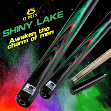 O'MIN SHINY LAKE 3/4 Snooker Cue 9.5mm Tip Ebony Tileable Butt Case with Extension Professional Billiards Maple For Black 8