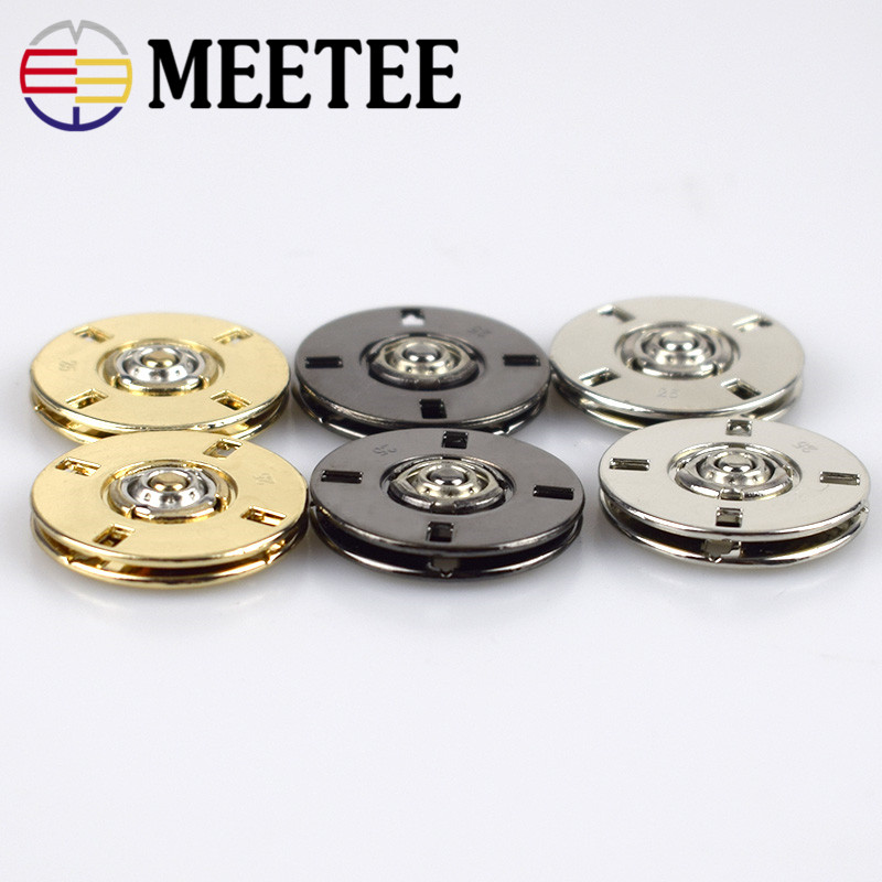 100 sets Metal Round Press Studs Snap Sewing Button 10 12 15 17 19 21 23 25 30mm