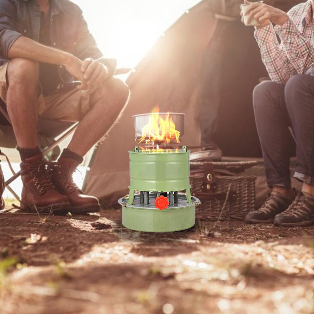Kerosene Pressure Stove For Camping Hiking Home Outdoor 1.5L with Silent Burner
