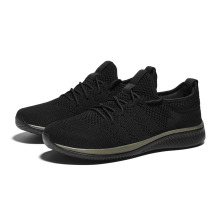 Men Shoes Sneakers Lightweight Comfortable Black Walking New Mesh Lac-Up Zapatos Feminino