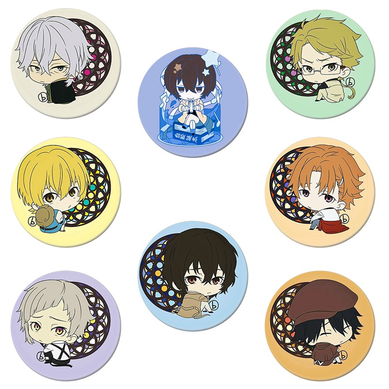 Trendy Anime Bungo Stray Dogs Cosplay Badge Brooch Pin Dazai Osamu Collection Badge for Backpack Clothes