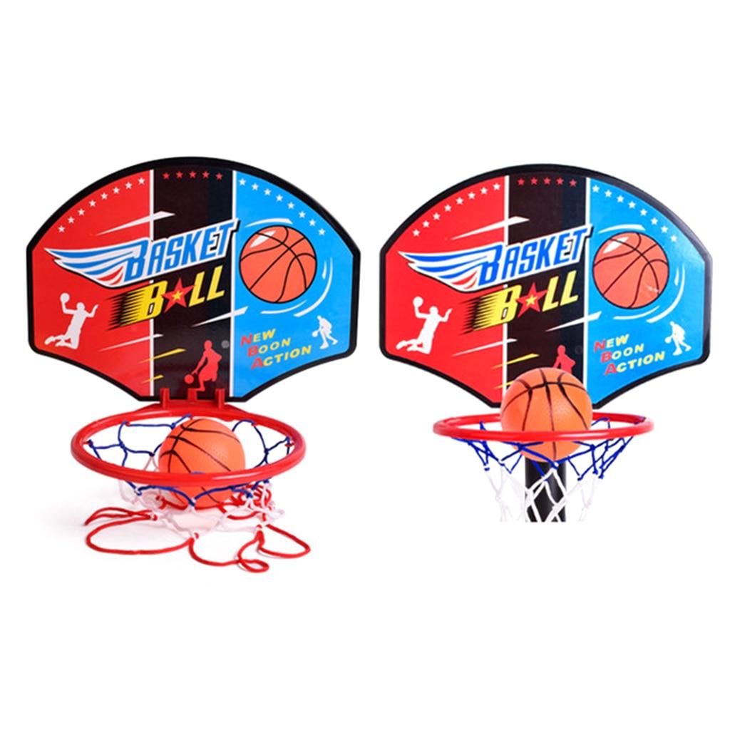 Basketball Net Hoop Backboard Adjustable Stand Set Portable Ball /& Pump Included