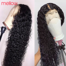 Jerry Curl Wig Human-Hair Lace-Front Remy Pre-Plucked 180-Density Black-Women Brazilian