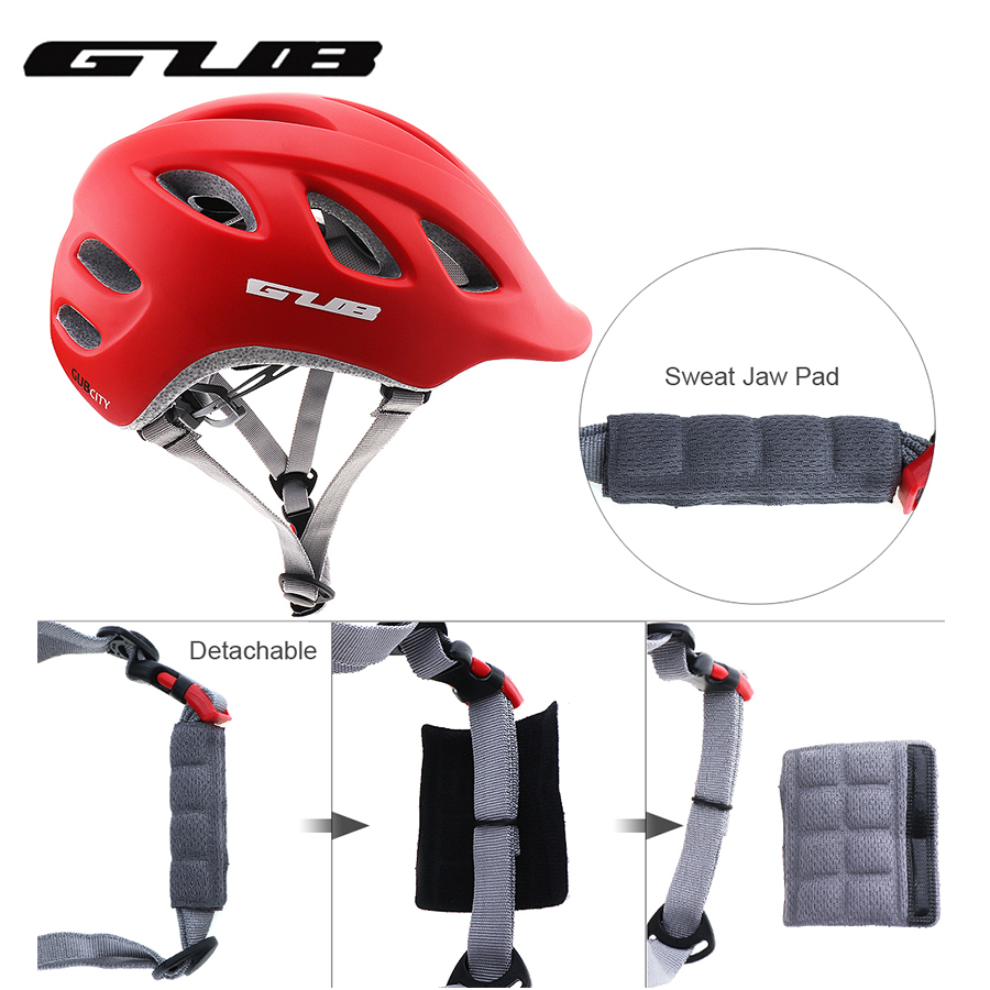 GUB Unisex Urban Bicycle Folding Bicycle Fixed Safety Cap Integrated Casting City Helmets For Outdoor Sport Protection Accessory