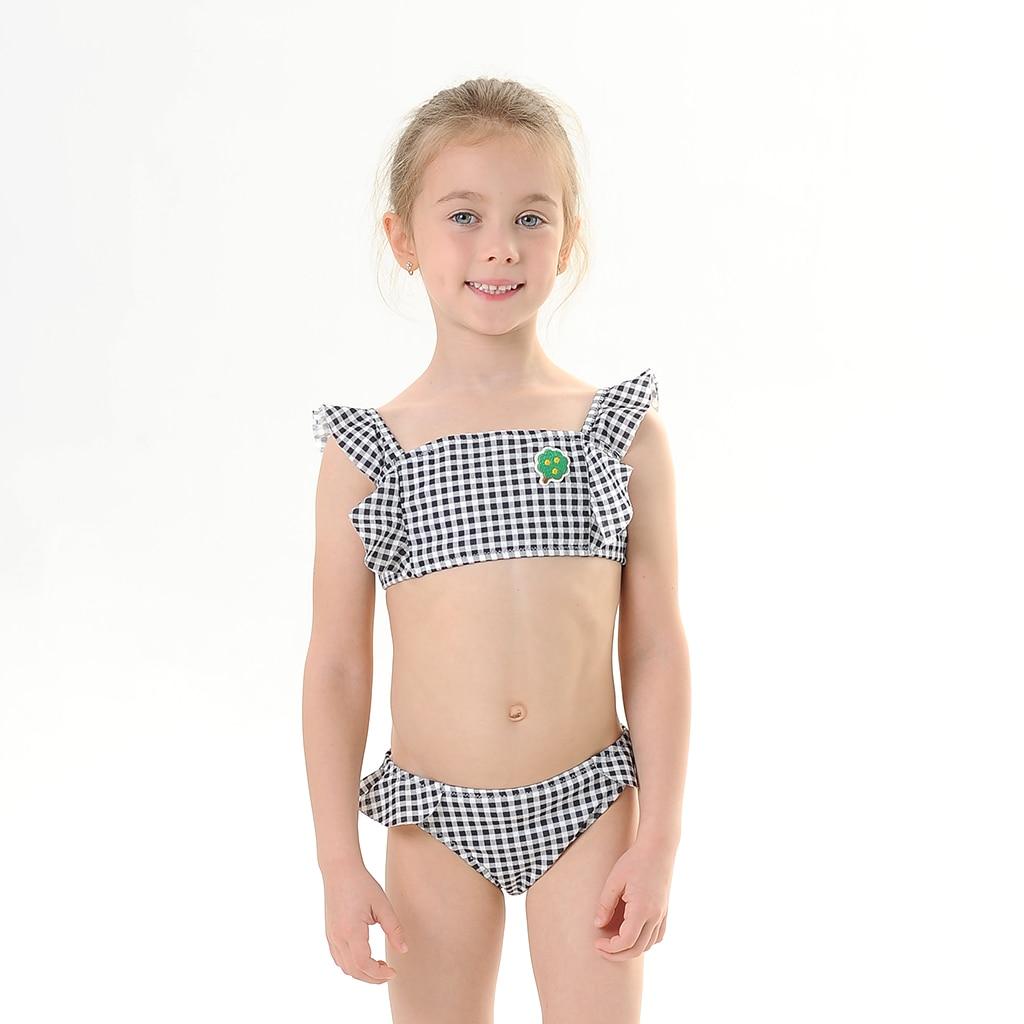 LNGRY Baby Swimwear,Toddler Teen Kids Girls Princess Floral Print Two Piece Bikini Swimwear Swimsuit Set