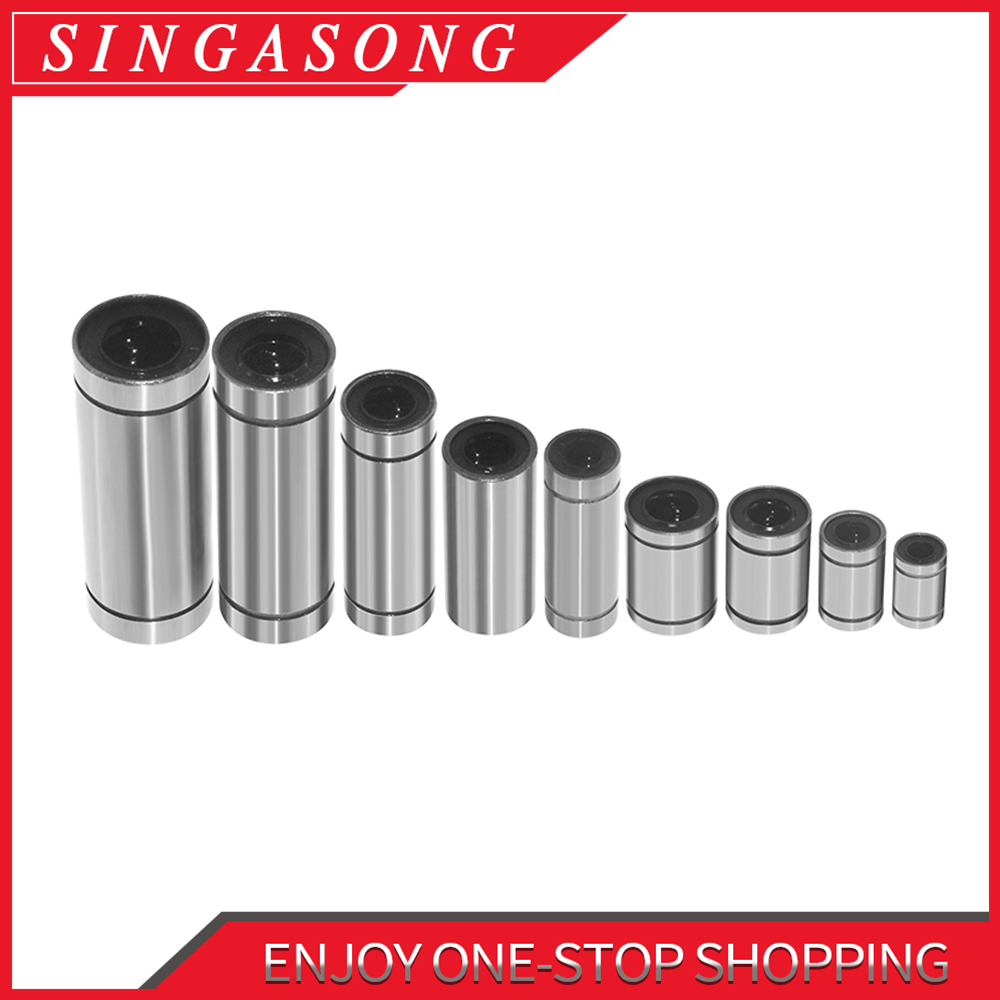 Swmaker Pcs Solid Polymer Lm8Uu Linear Bearings Bushing Lm8Luu 8Mm 8*15*45 M New