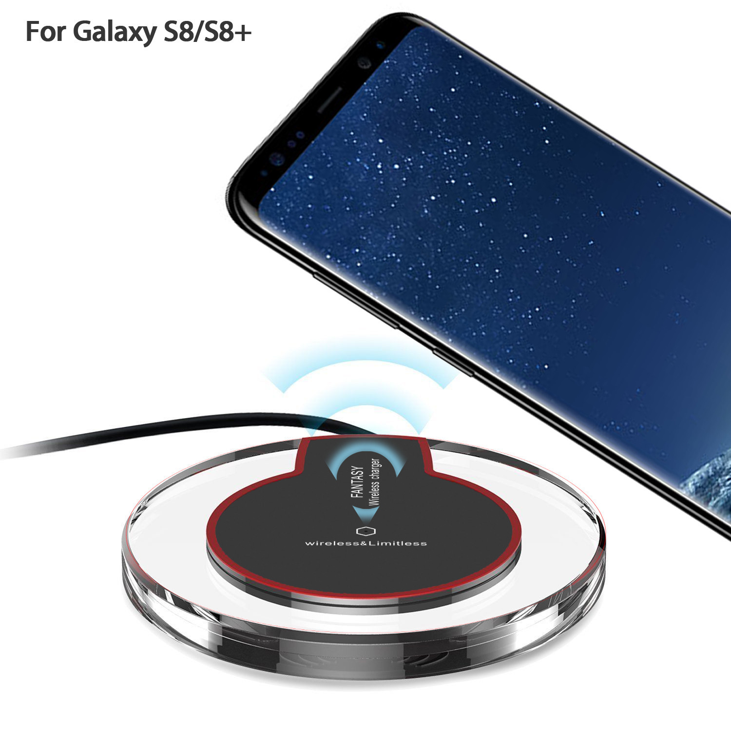 Wireless Charger Charging Pad For Samsung Galaxy 8/S8+/S7 S6 Edge S6 Edge+ Plus Lumia title=
