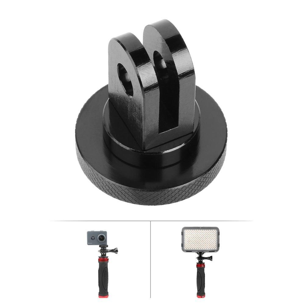 CNC Aluminium Alloy 1//4 Mini Tripod Adapter Mount Holder Accs for GoPro Hero 7//6