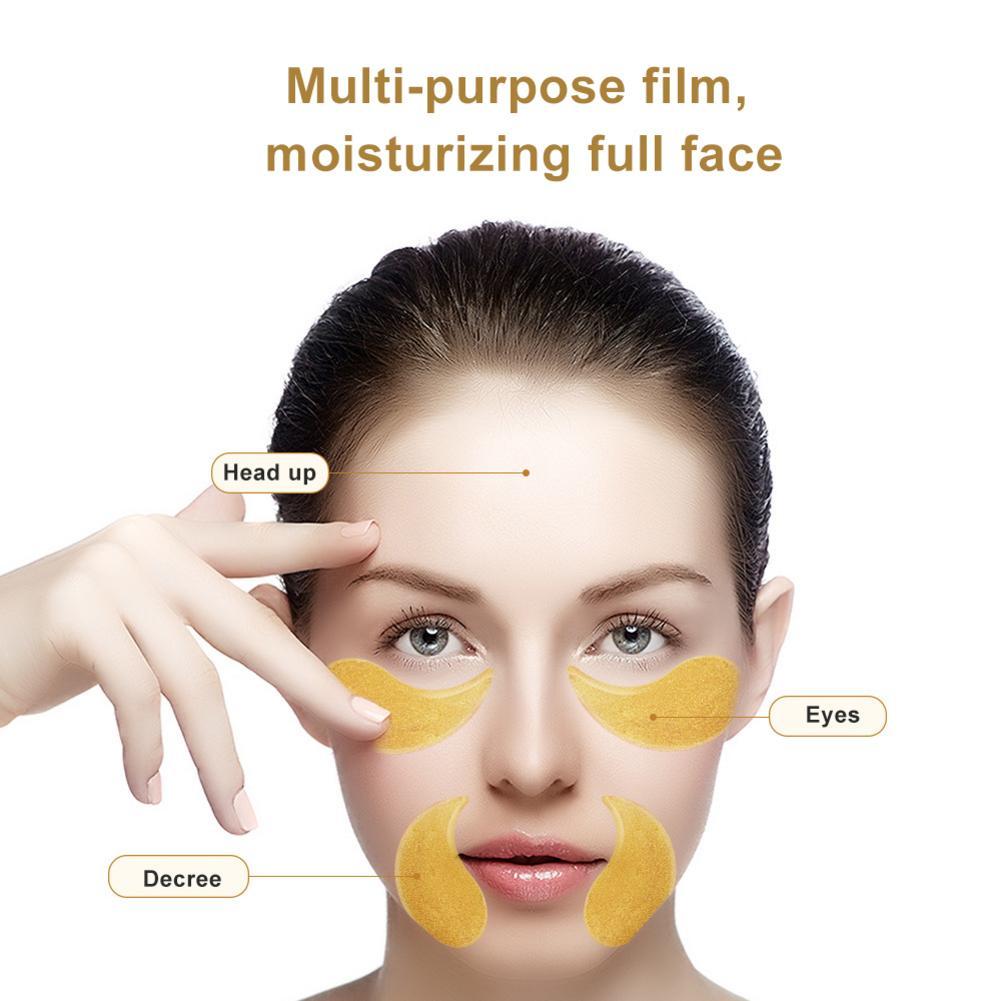Person - 60pcs Gold/Seaweed/Black Pearl Collagen Eye Mask Face Anti Wrinkle Gel Sleep Mask Eye Patches Moisturizing Eye Mask Eye Care