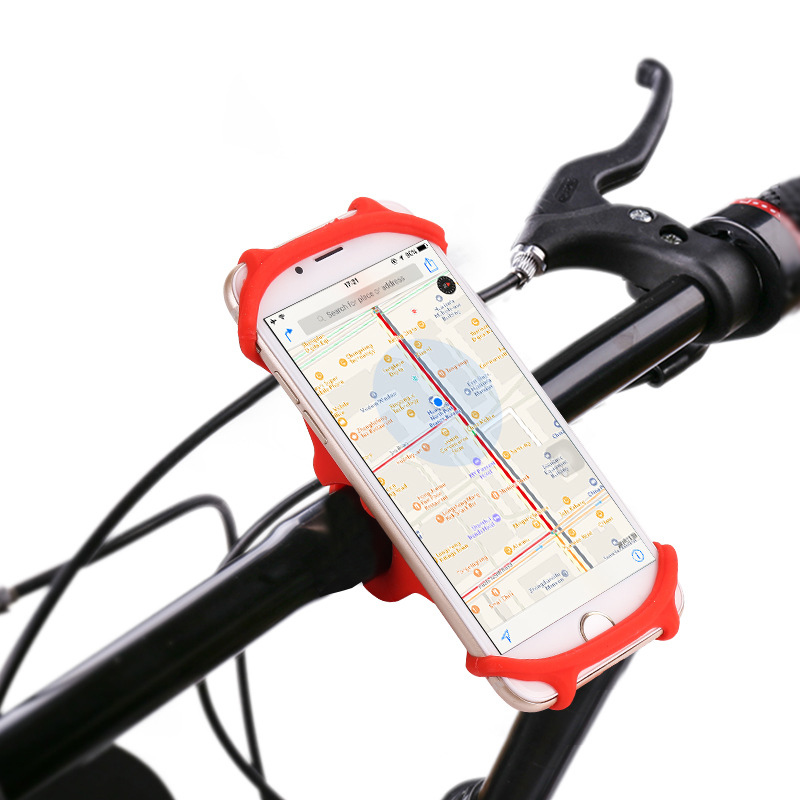 Bicycle Holder Silicone Support Universal Mobile Cell Phone Handlebar Mount Band Bike GPS Clip For iPhone Samsung Xiaomi PA0115 (2)