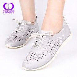 AIMEIGAO/Лидер продаж; дышащая повседневная женская обувь; обувь на плоской подошве; удобная обувь из мягкой кожи; обувь для женщин; Прямая поста...