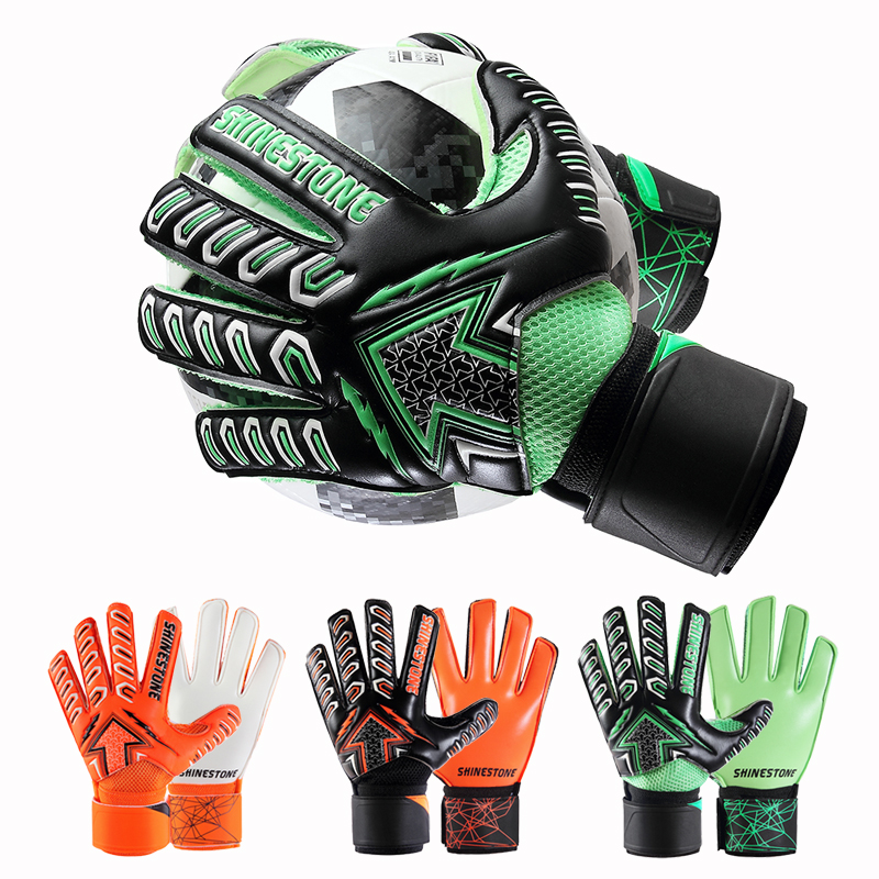 Unisex Kids Full Finger Hand Protect Football Soccer Goalkeeper Goalie Gloves