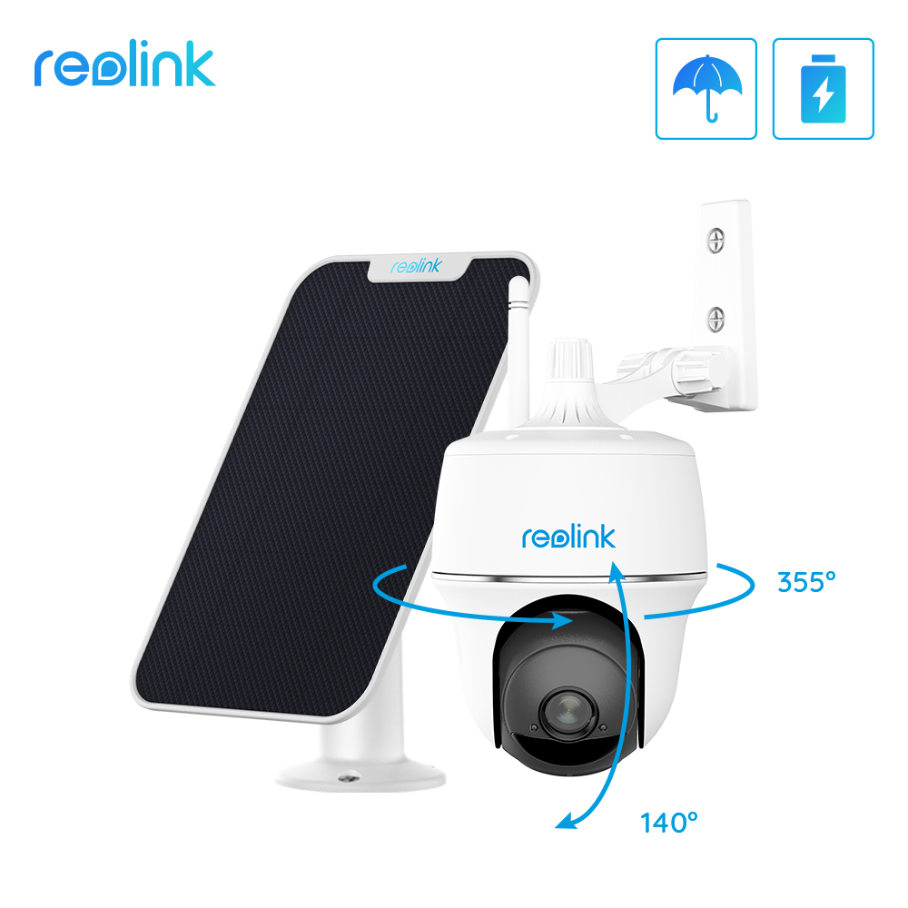 Reolink Argus PT w Solar Panel 1080P WiFi Camera PT Rechargeable Battery/Solar Powered Security Camera