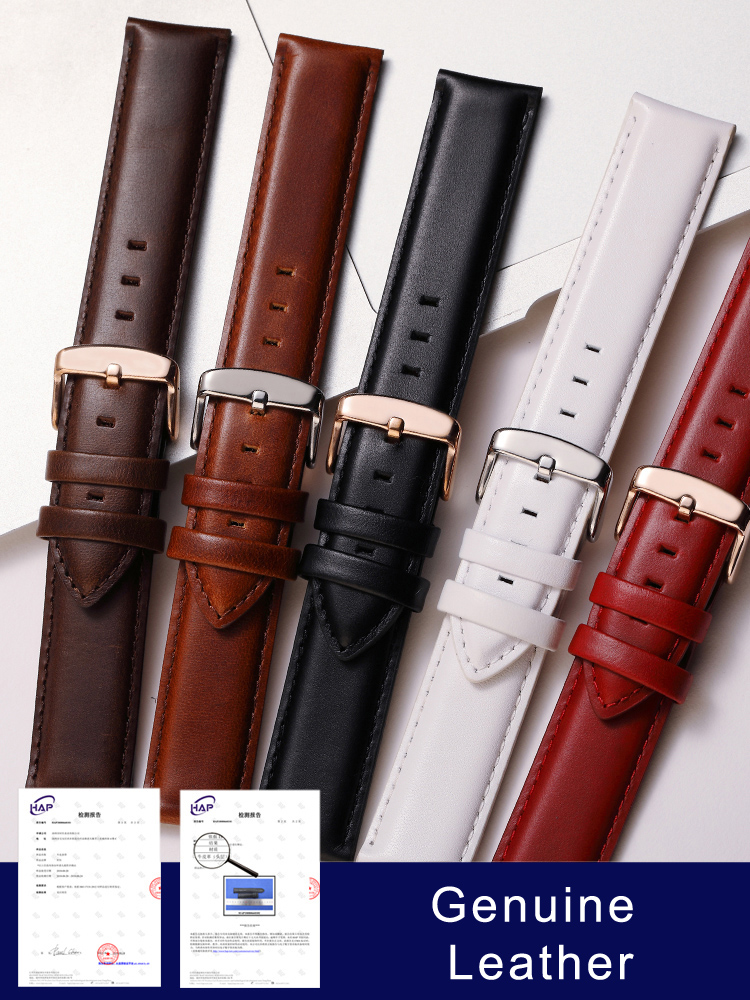 Quality Genuine Leather Watch Band 13mm 14mm 16mm 17mm 18mm 19mm 20mm  Men Watchbands For DW Daniel Wellington Watch Strap Women