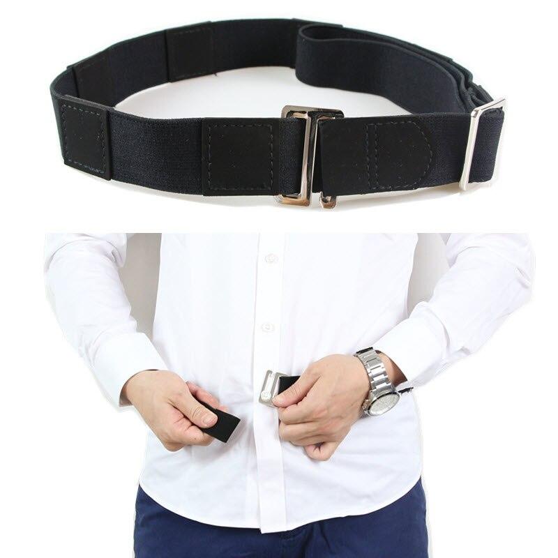 2 Pairs Mens Non Slip Elastic Shirt Garter Belt Sleeve Holders Armbands Belt