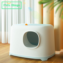 Potty Litter-Box Toilet Cat Deodorant Pets Fully-Enclosed Big Anti-Splash Bingo-Cat Space-Supply