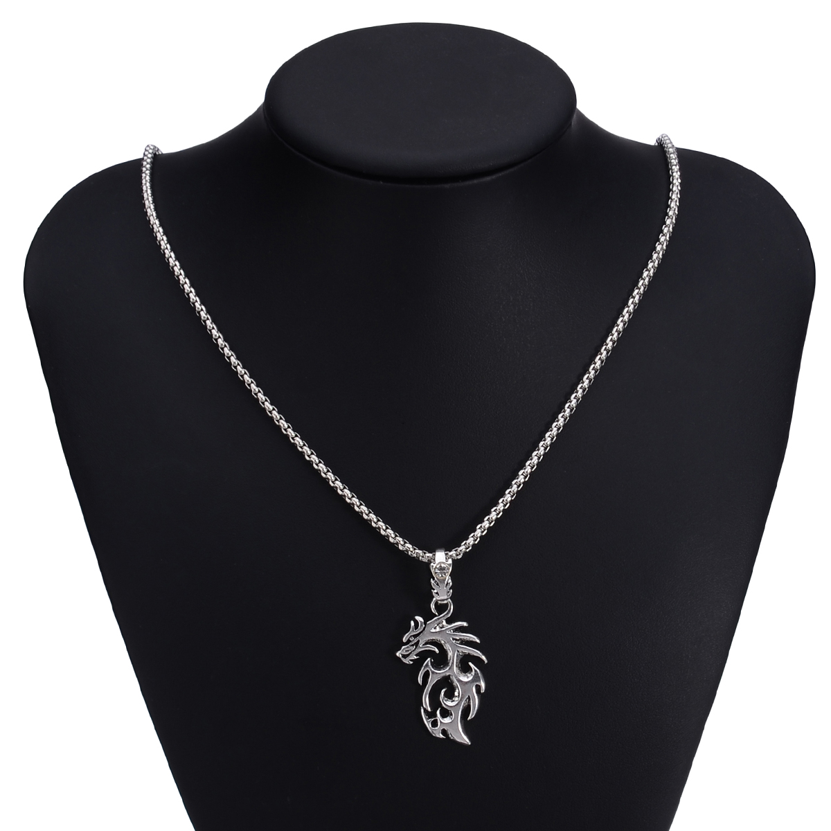 Shellhard Fashion Men Stainless Steel Jewelry Unique Antique Dragon Pendant Necklace Chain Silver Gold Drop Neckalce erkek kolye