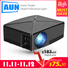 AUN MINI Projector Beamer C80 LED C80UP Android-Wifi Home Cinema Portable 4K 1280x720p-Resolution