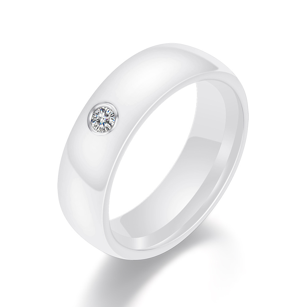 2020 New Black and White Ceramic Ring Fashion Men and Women Trend Couple Ring Personality Ring