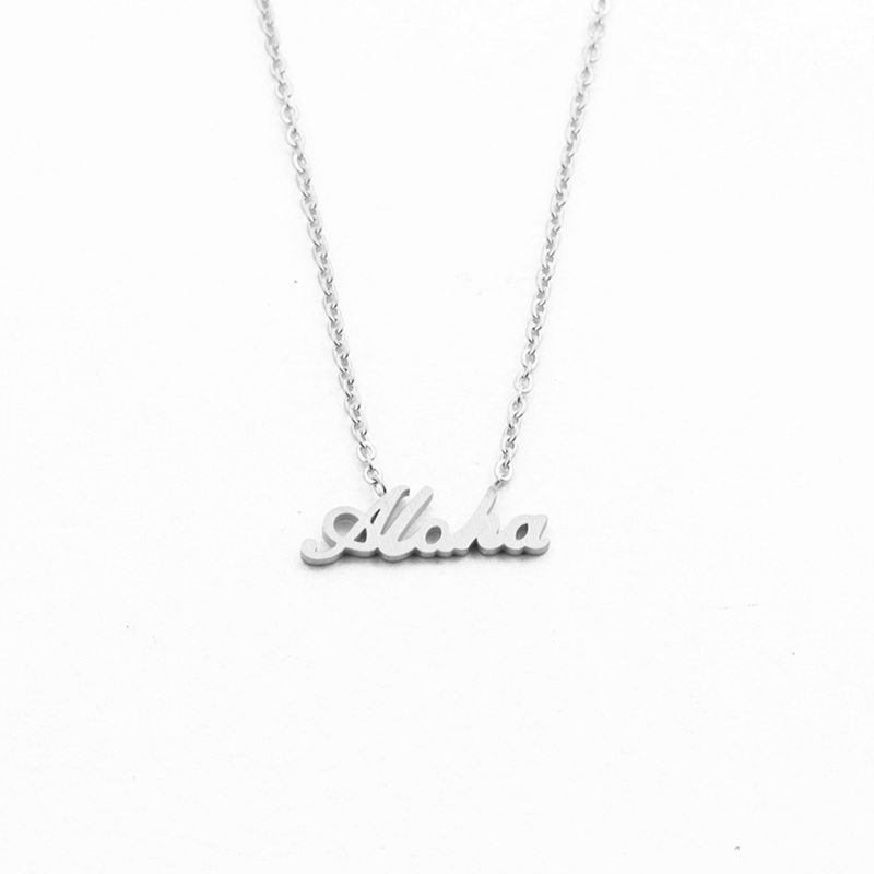 Hawaii-Best-Regards-Aloha-Necklace-Pendant-Women-Summer-Jewelry-Stainless-Steel-Gold-Chain-Letter-Collier-Femme_