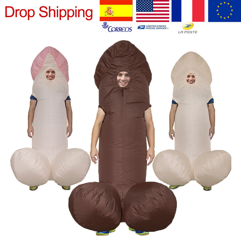 Holiday-Costumes Jumpsuit Dress Disfraz-Paty Dick Penis Funny Anime Adult Inflatable title=