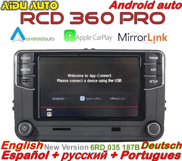 Android Auto Carplay RCD360 PRO NONAME RCD330P RCD340P 187B Radio For VW Golf 5 6 Jetta MK5 MK6 Tiguan Passat B6 B7 CC Polo 6R