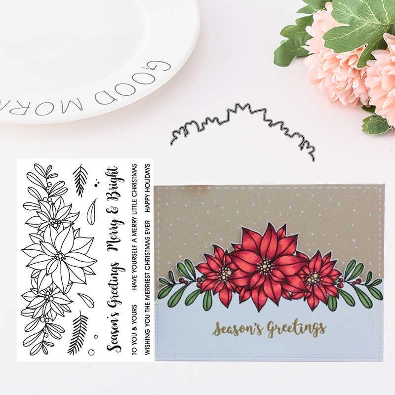 FLOWER Metal Cutting Dies and Stamps Stencil for DIY Scrapbooking album Decorati