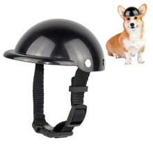 Pet-Helmet Cats Dogs Motorcycle Black Car-Safety-Cap CW Outdoor